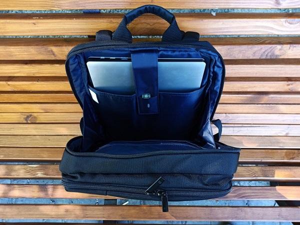 Открытый рюкзак